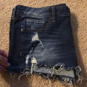 Express low rise jean shorts